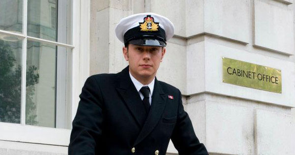 Cabinet Office's Jeremy Olver in Naval uniform