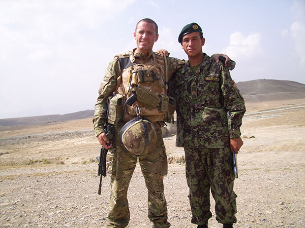Tim Wates mentoring the Afghan National Army