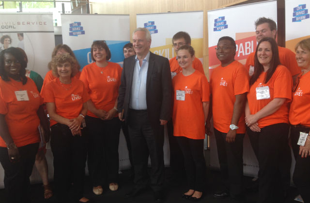 Minister for the Cabinet Office meets CSLive Bristol volunteers