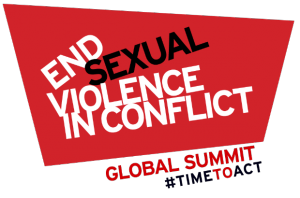 Logo for the global summit to end sexual violence in conflict