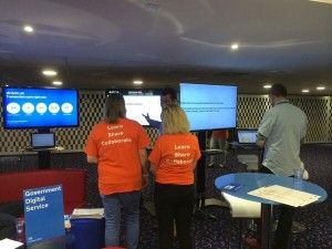 Volunteers at GDS stand at Civil Service Live Newcastle