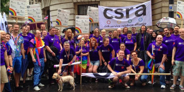 civil servants marching at London Pride 2014