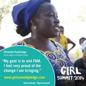 Girl Summit 2014 poster to end Female Genital Mutliation