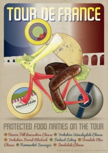Defra Tour de France Protected Food Name food poster
