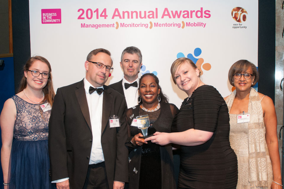 UK Civil Service team picking up Race for Opportunity award