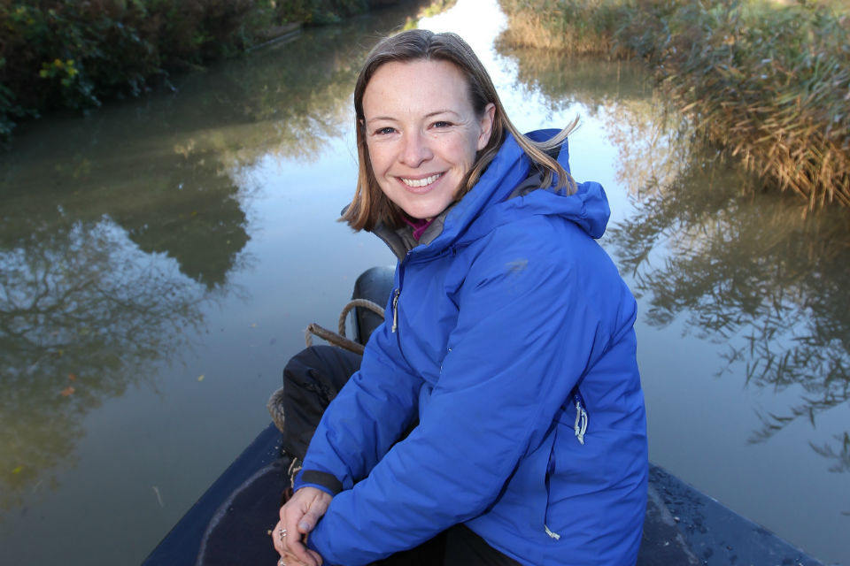 A picture of Miranda Krestovnikoff, zoologist, presenter on the One Show and Friend of the Canal and River Trust
