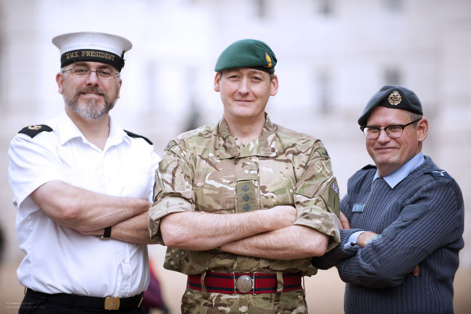 Royal Navy, Army and Royal Airforce reservists