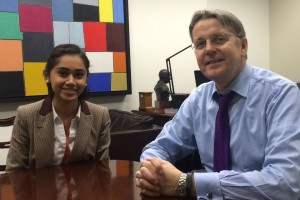 Picture of Eva Mannan with Jeremy Heywood
