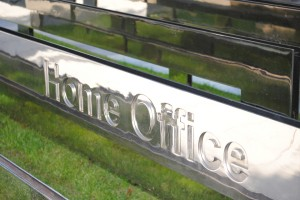 The Home Office sign outside of the Marsham Street Building