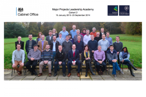 team photo of cohort 3 of the Major Projects Leadership Academy graduates