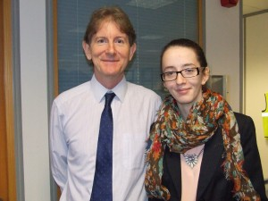 Picture of Robert Devereux with Chloe Lintern