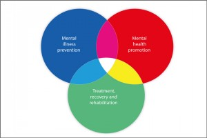 Venn diagram on prevention, promotion and rehabilitation