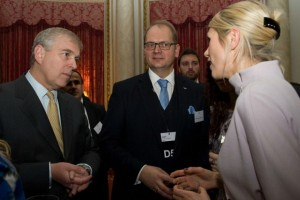 The Duke of York at the D5 reception