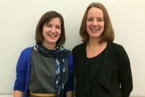 Sophie Langdale (left) and Frances Oram