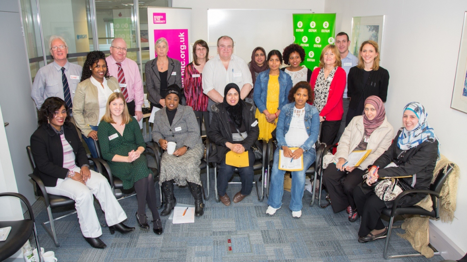 Civil servants helping women refugees with BiTC & Oxfam Cymru