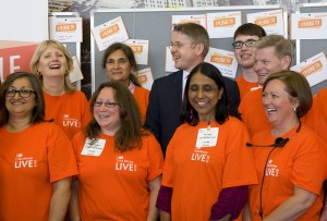 Sir Jeremy Heywood with some volunteers at CS Live London