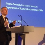 Martin Donnelly, Perm Sec of BiS addressing the TW3 Awards audience