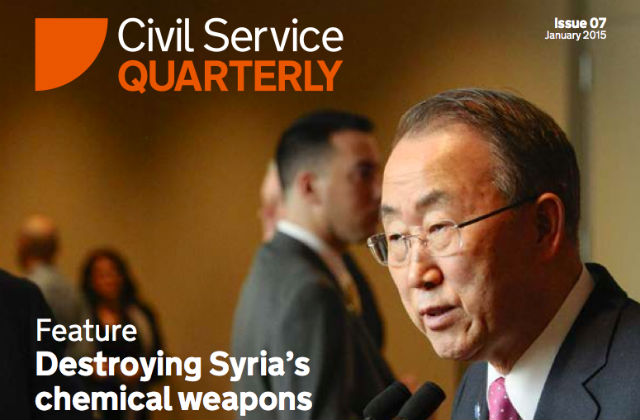 Cover of Civil Service Quarterly issue 7 featuring a picture of Ban Ki Moon