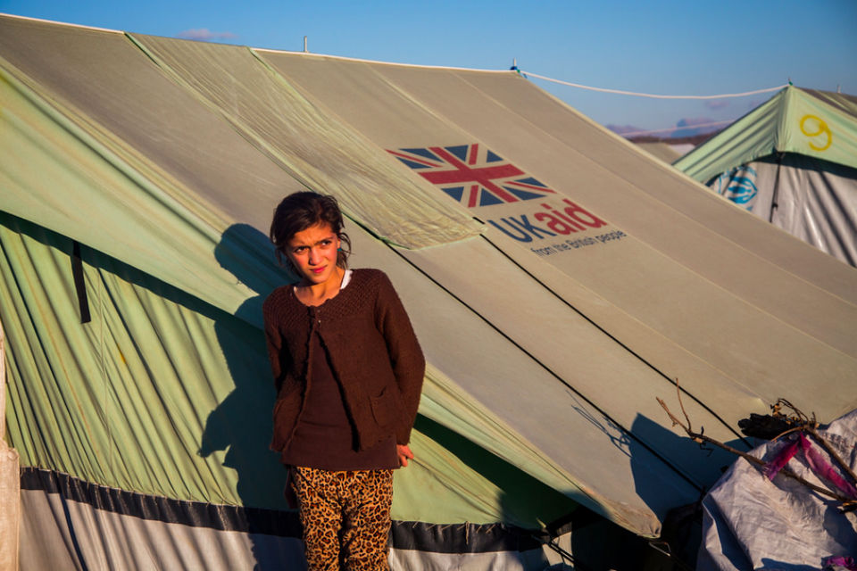 DFID UK Aid tent in Afghanistan