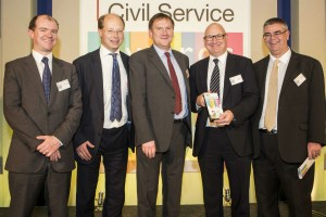 MoJ Estates Team receiving their Civil Service Award