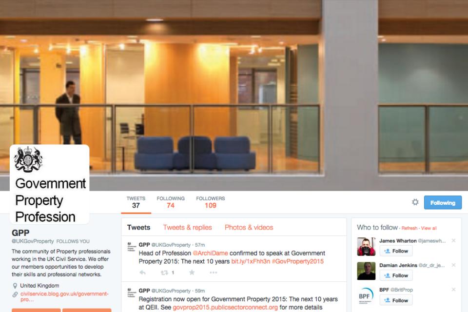 screenshot of the GPP twitter homepage