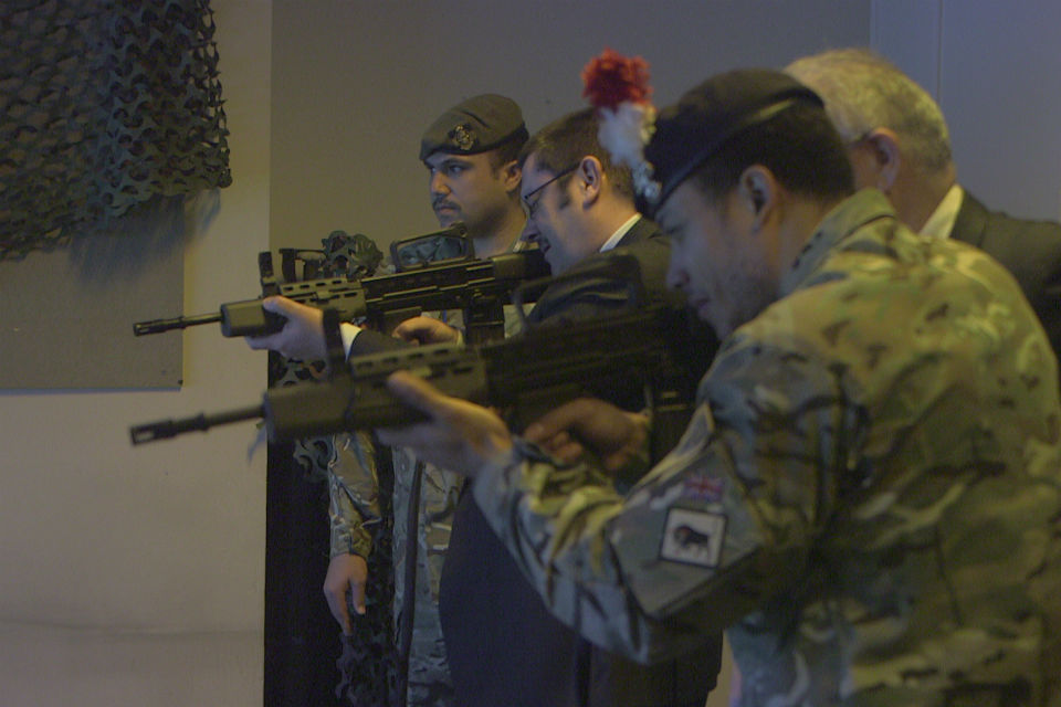 Jon Thompson (middle) shooting at the Reserves event