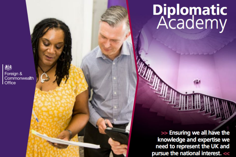 Diplomatic Academy brochure frontcover