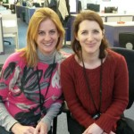 Photo of Susie Owen (l) and Deborah Brooks at their desk in the Cabinet Office