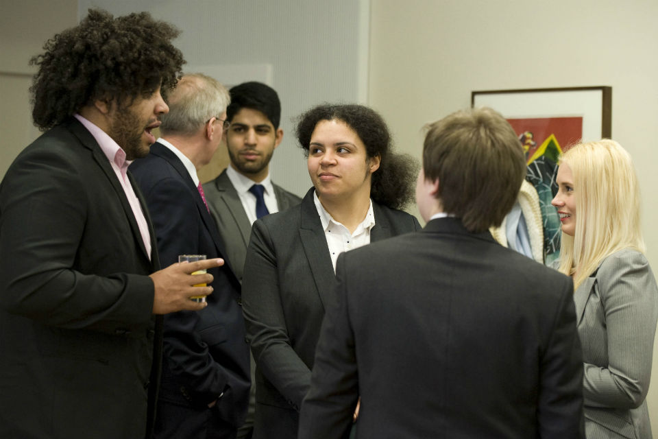 Fast Track Apprentices chatting at an induction event