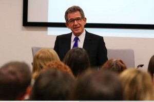 Lord Browne speaking at the event at the Ministry of Justice to celebrate LGBT History Month