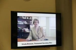 Screenshot of Ursula's video link message