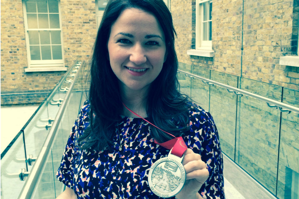 Amy Allison - London Marathon medal