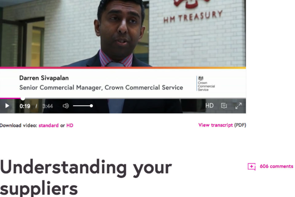Contract Management MOOC video interview with Darren Sivapalan, Crown Commercial Service.