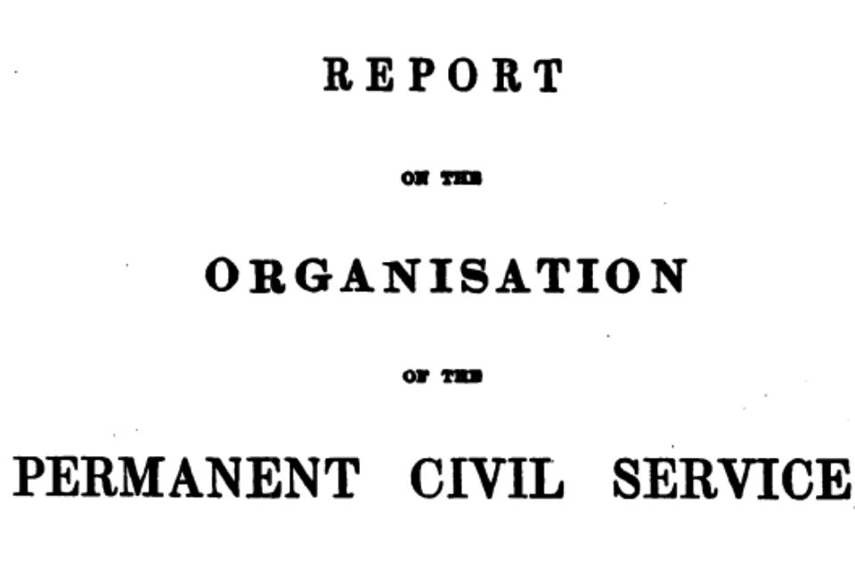 The front page of the Northcote-Trevelyan Report, 1854.