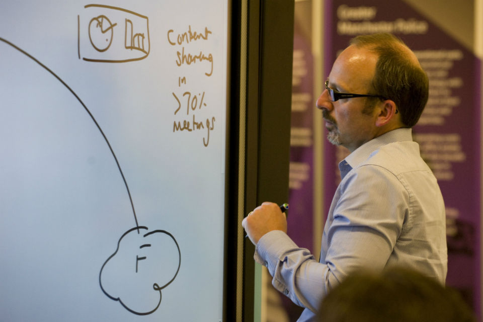 Interactive whiteboard at CS Live 2014