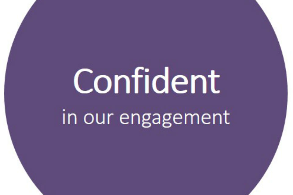 "Graphic with the words ""Confident in our engagement"""