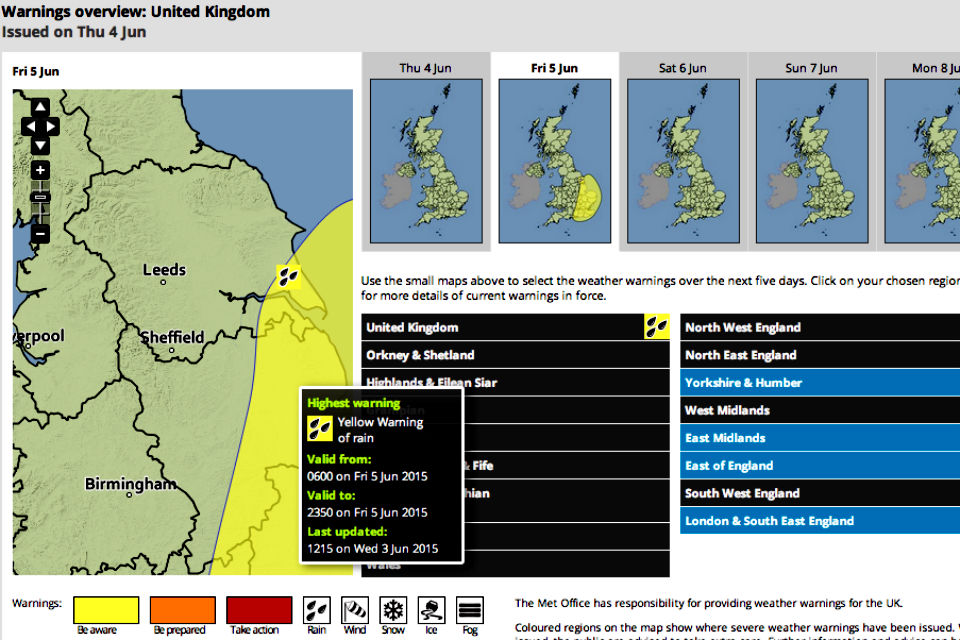 Met Office weather warnings 2