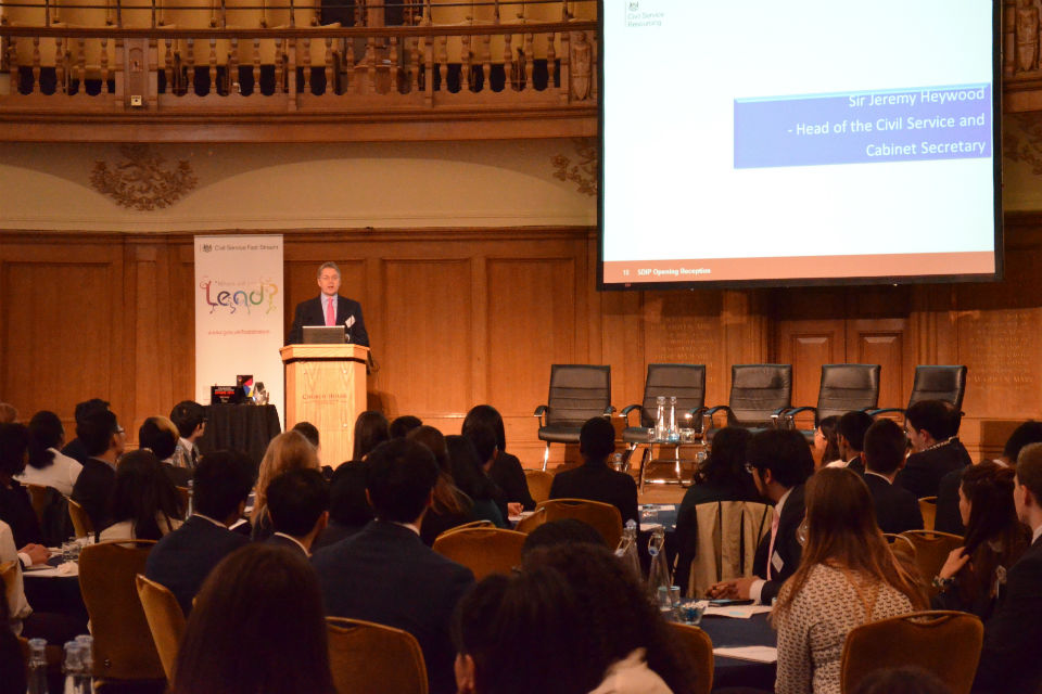 Sir Jeremy talking at the 2015 Summer Diversity Internship Programme launch