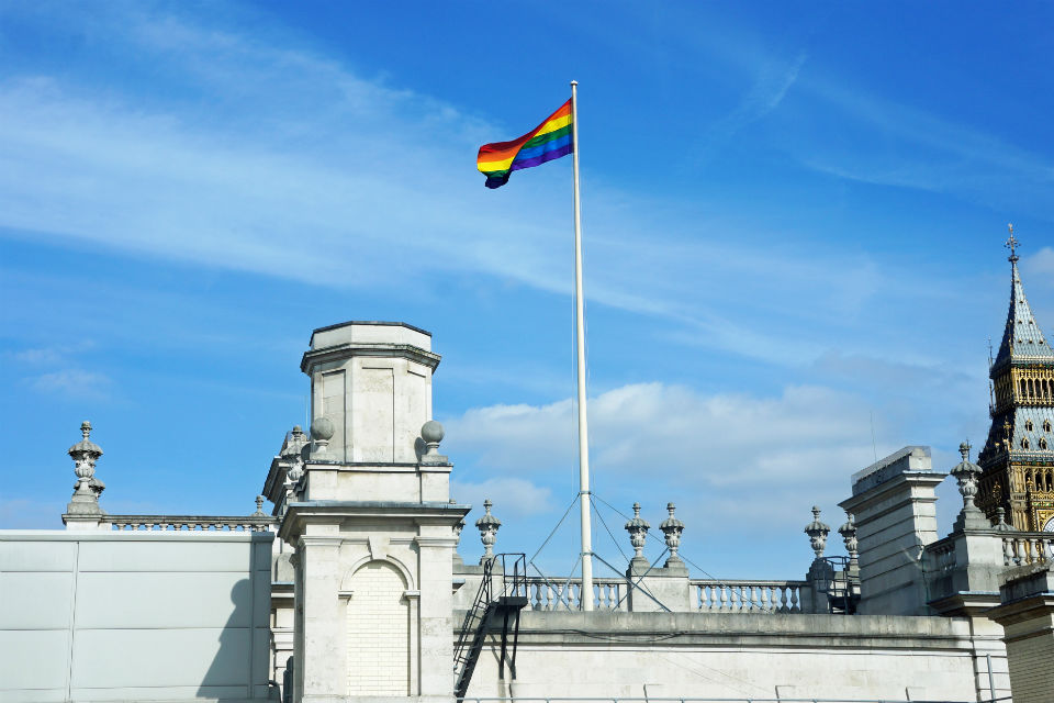 The Rainbow flag over 100 Parliament Street