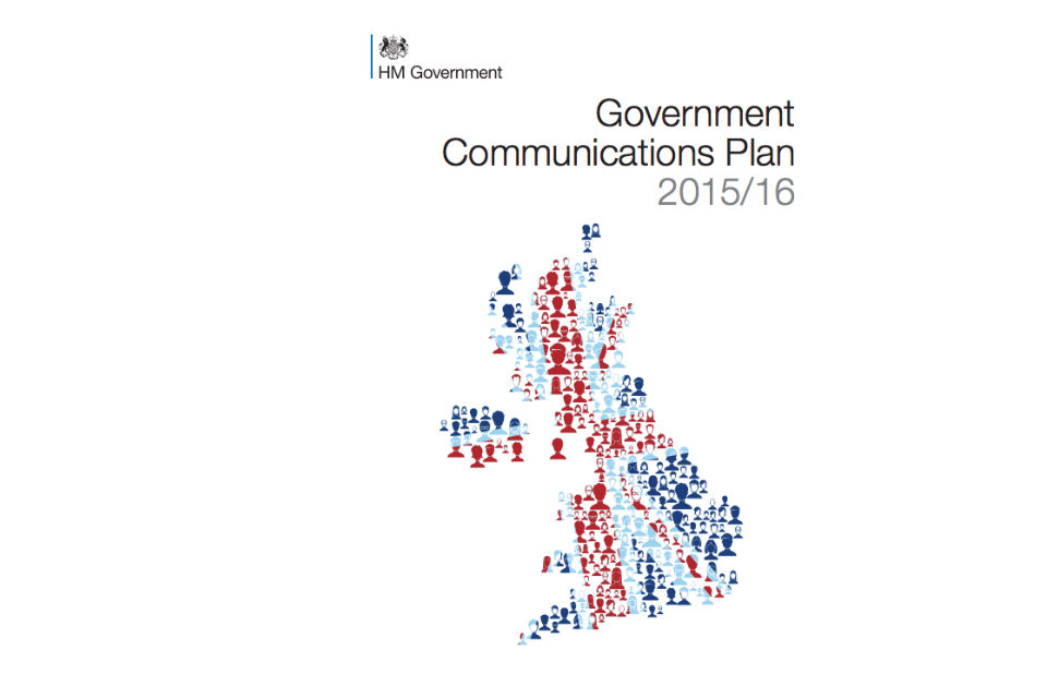 Front cover of the Government Communications Plan 2015/2016