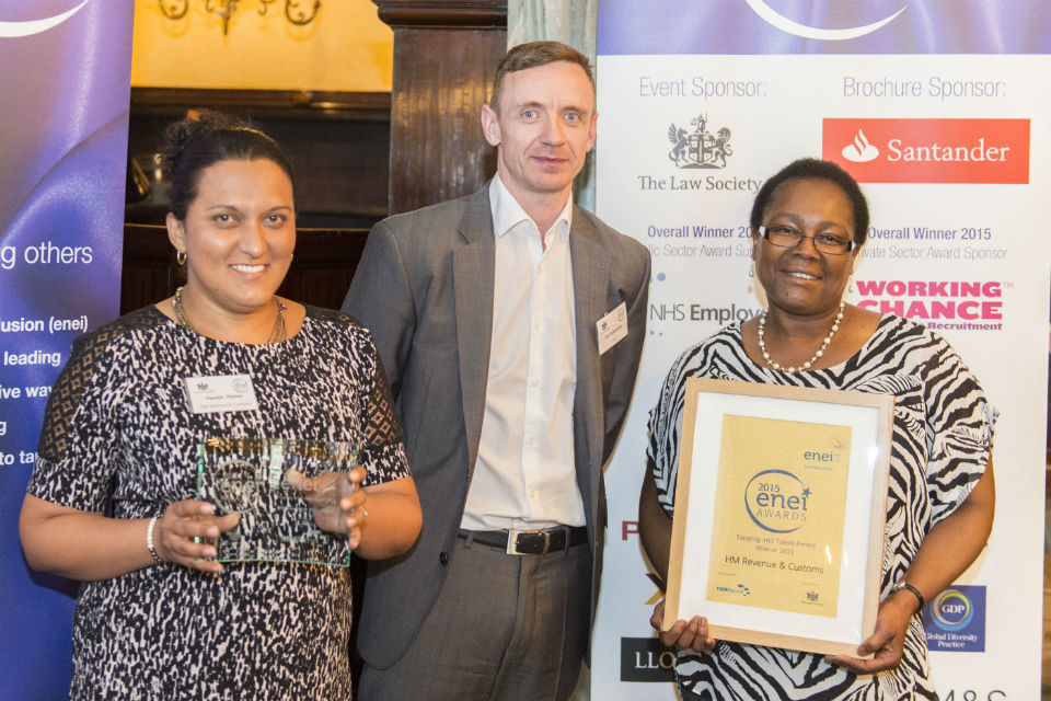 HMRC team - winners Tapping into Talent Award
