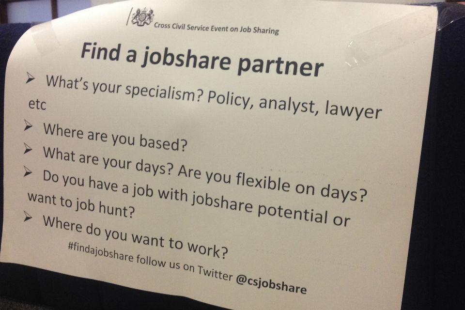 Poster advertising tips for finding a job share partner