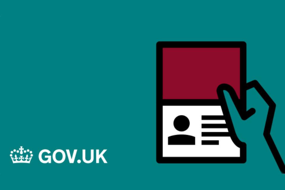 GOV.UK Infographic of a passport