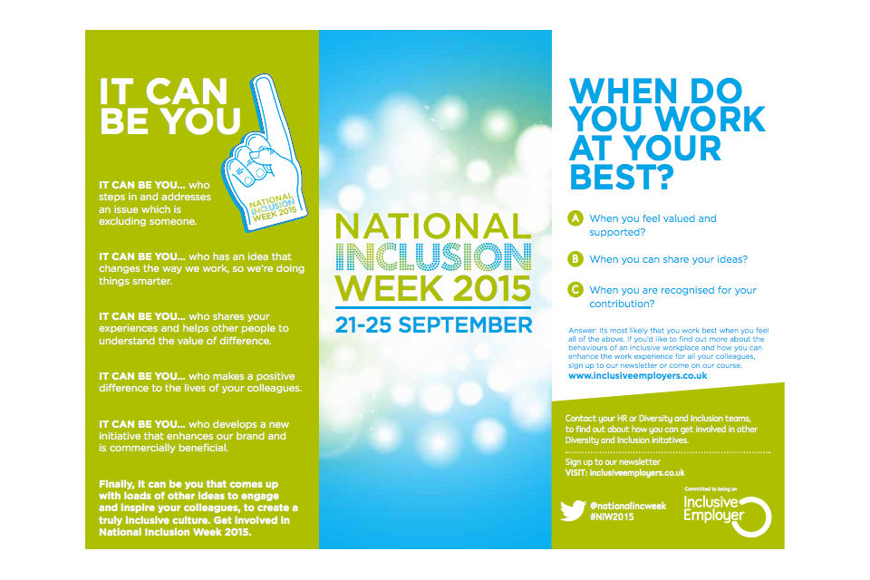 National Inclusion Week card
