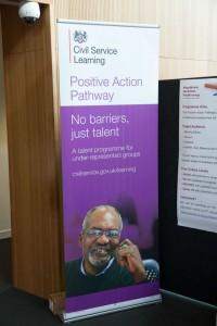 Positive Action Pathways banner at Civil Service Live