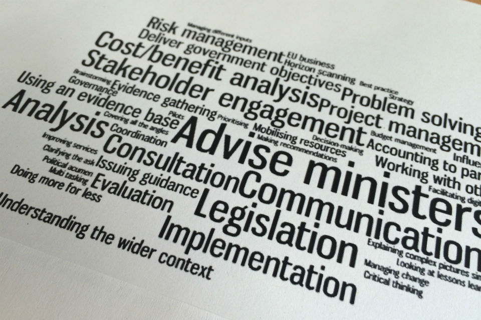 Policy-making wordle