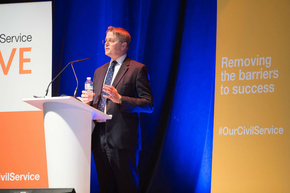 Sir Jeremy delivering his priorities for the Civil Service at Bristol 2015.