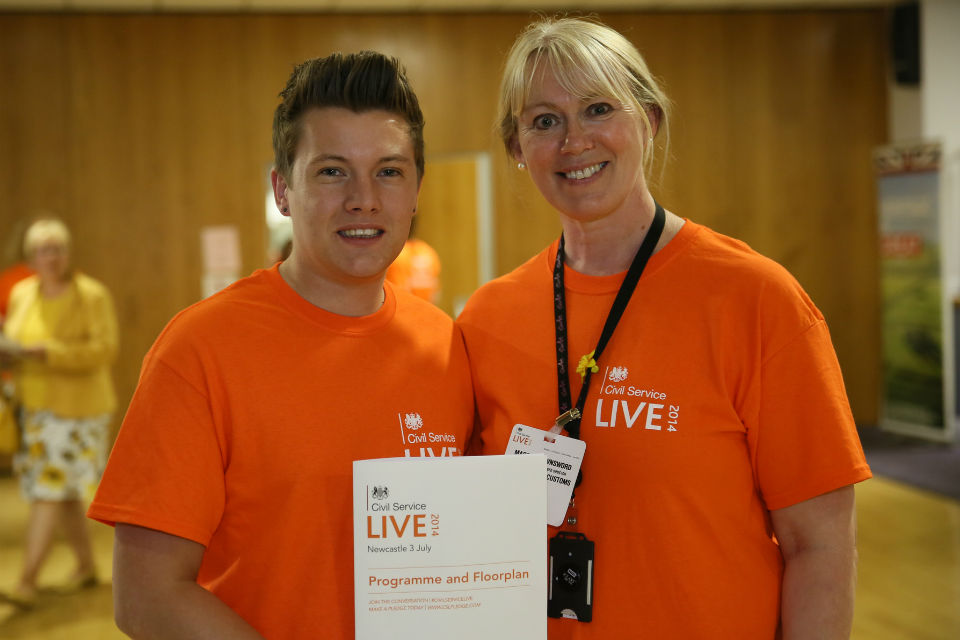 Volunteers at Civil Service Live 2014: Newcastle