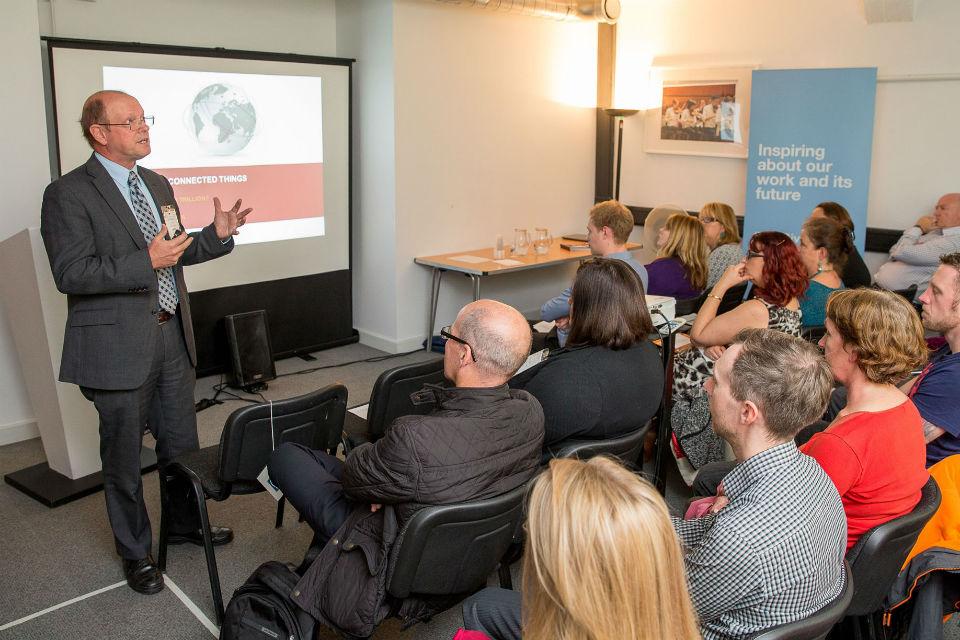CGI's John Hicklin presenting IoT (IN3) in Bristol