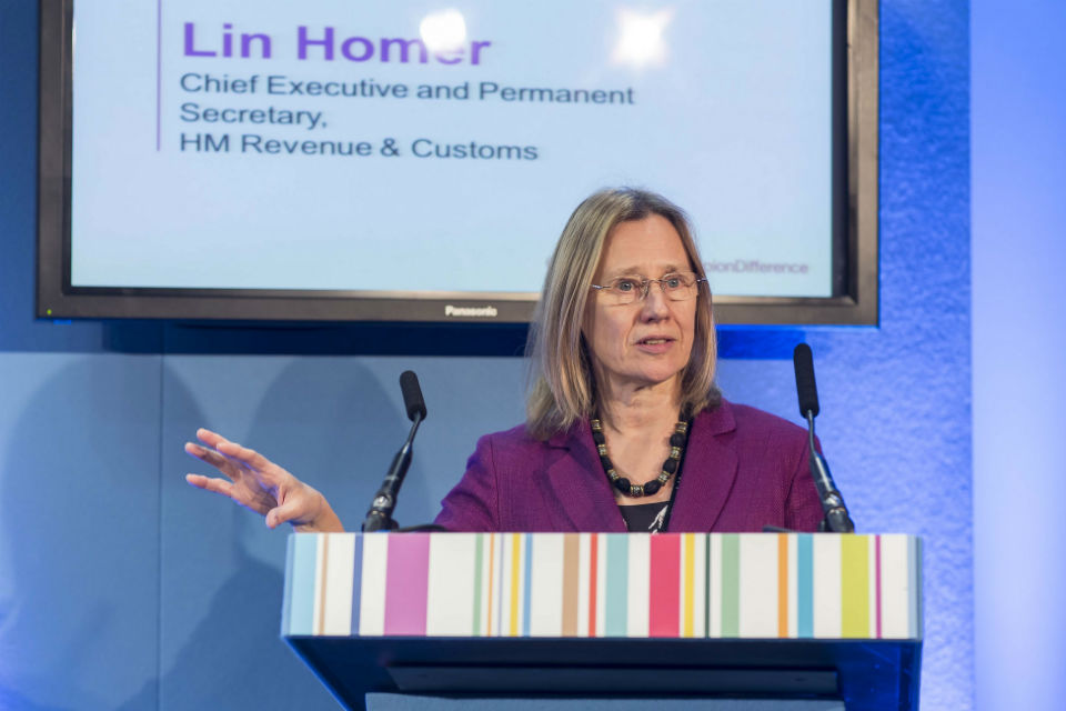 Lin Homer at the Diversity & Inclusion Awards 2015
